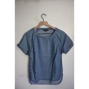 Velvet Heart denim blouse tee XS